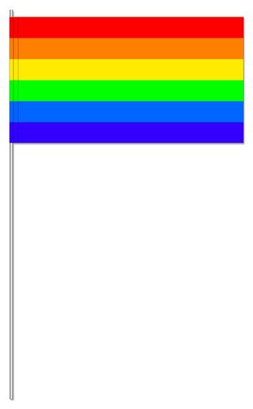 Papierfahnen Regenbogen Streifen