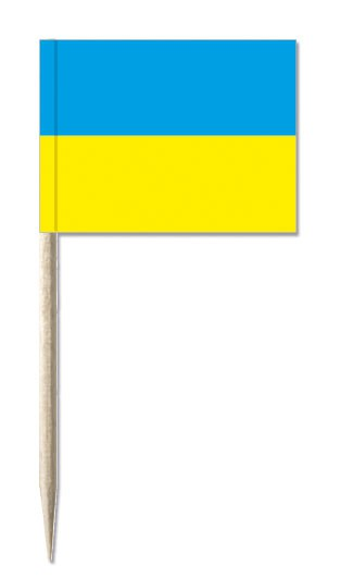 Minifahnen Dekopicker / Käsepicker Ukraine