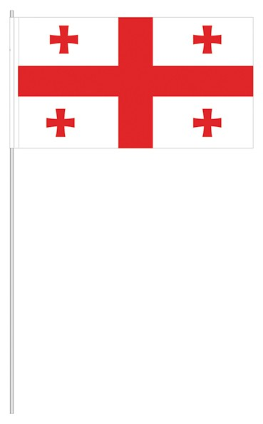 Papierfähnchen Georgien