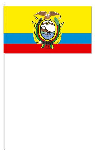 Papierfähnchen Ecuador