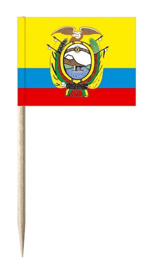Minifahnen Dekopicker / Käsepicker Ecuador