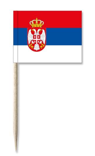 Minifahnen Dekopicker / Käsepicker Serbien