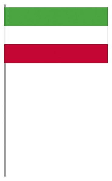Papierfahne grün/weiß/rot
