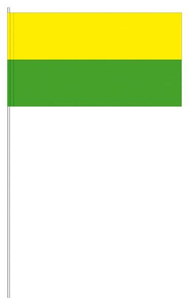 Papierfahnen gelb/grün