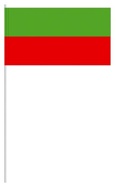Papierfahnen grün/rot