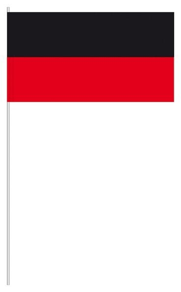 Papierfahnen schwarz/rot