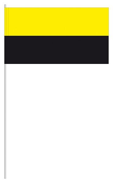 Papierfahnen gelb/schwarz
