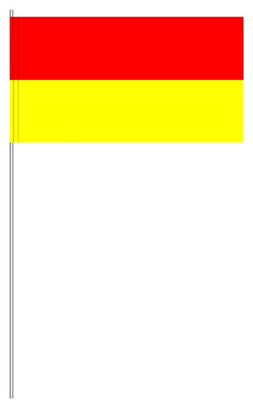 Papierfahnen rot/gelb