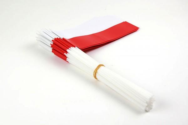Papierfahnen weiß/rot