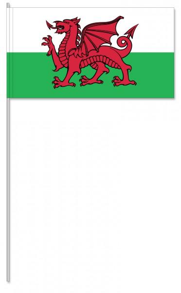 Papierfahnen Wales