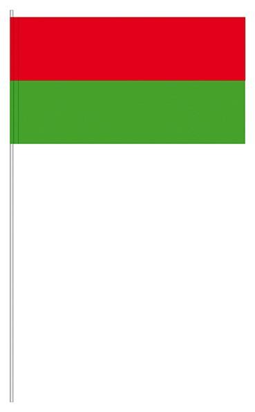 Papierfahnen rot/grün