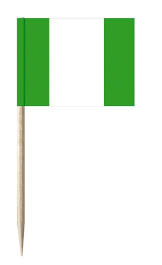 Minifahnen Dekopicker / Käsepicker Nigeria