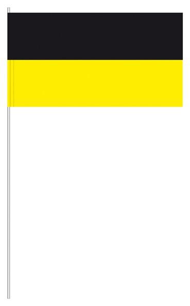 Papierfahnen schwarz/gelb