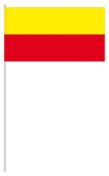 Papierfahnen gelb/rot