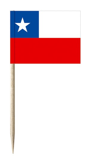 Minifahnen Dekopicker / Käsepicker Chile