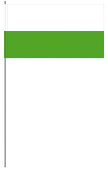Papierfahnen weiß/grün