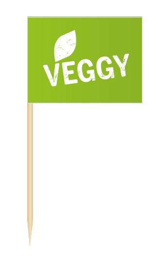 Minifahnen Dekopicker / Flags Veggy