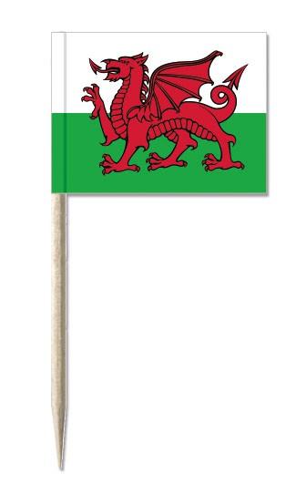 Minifahnen Dekopicker / Käsepicker Wales