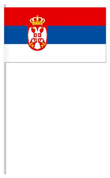Papierfähnchen Serbien