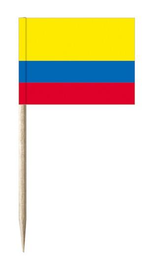Minifahnen Dekopicker / Käsepicker Kolumbien