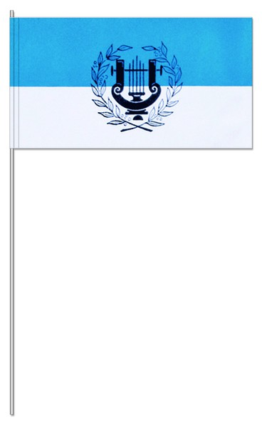 Papierfahnen Lyra blau/weiß