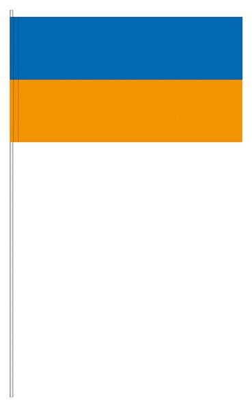 Papierfahnen blau/orange