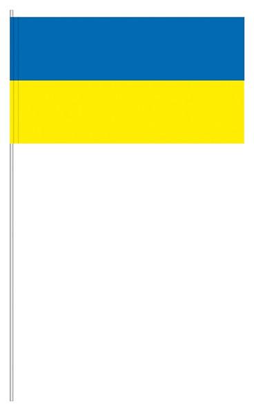 Papierfahnen blau/gelb