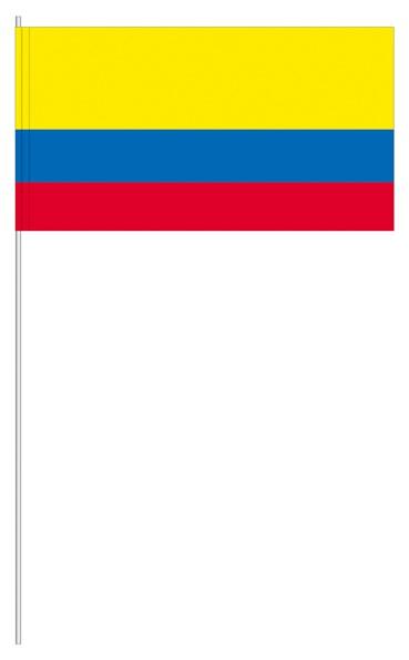 Papierfähnchen Kolumbien