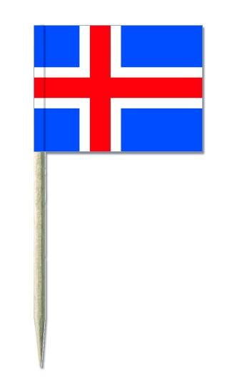 Minifahnen Dekopicker / Käsepicker Island