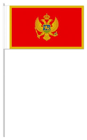 Papierfähnchen Montenegro