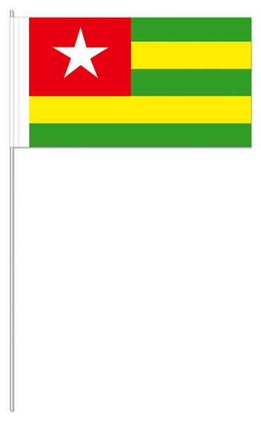 Papierfähnchen Togo
