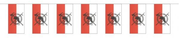 Fahnenketten Feuerwehr rot/weiß