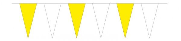 Wimpelketten gelb/weiß, 5 m
