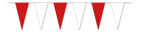 Wimpelketten rot/weiß, 10 m