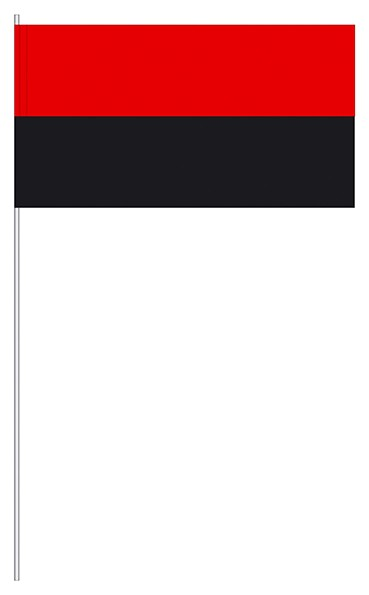 Papierfahnen rot/schwarz