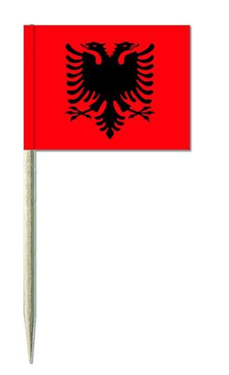 Minifahnen Dekopicker / Käsepicker Albanien