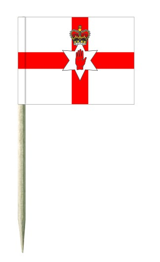 Minifahnen Dekopicker / Käsepicker Nordirland