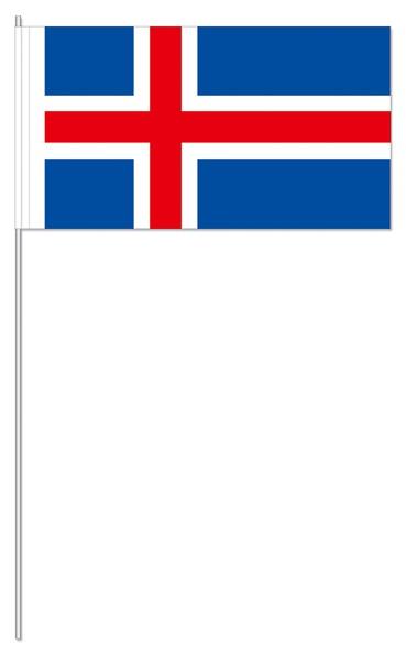 Papierfähnchen Island