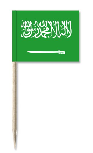 Minifahnen Dekopicker / Käsepicker Saudi-Arabien