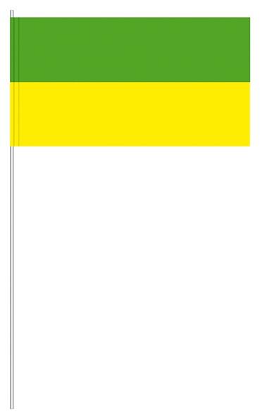 Papierfahnen grün/gelb