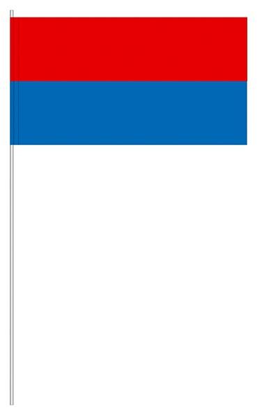 Papierfahnen rot/blau