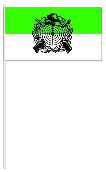 Papierfahnen Schützen grün/weiß