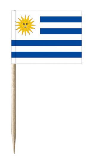 Minifahnen Dekopicker / Käsepicker Uruguay