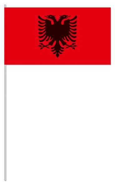 Papierfähnchen Albanien
