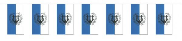 Fahnenketten Lyra blau/weiß