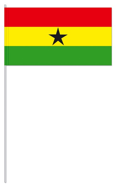 Papierfähnchen Ghana