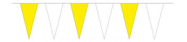 Wimpelketten gelb/weiß, 10 m