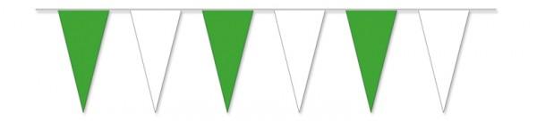 Wimpelketten grün/weiß, 10 m