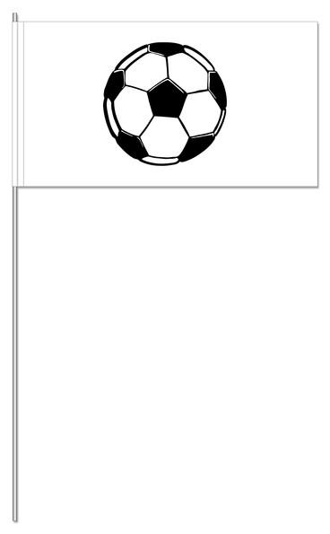 Papierfahnen Fußball weiß