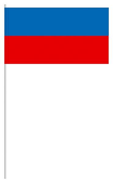 Papierfahnen blau/rot